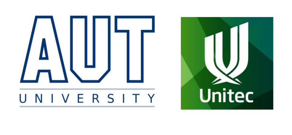 Art of Giving Workshop Unitec and AUT logos